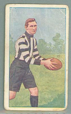 1922 Magpie Cigarettes Victorian League Footballers Charles Tyson trade card