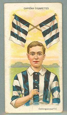 1912-13 Capstan Cigarettes Club Colours & Flags Collingwood FC trade card
