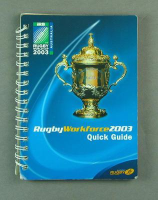 Rugby World Cup workforce guidebook, 2003