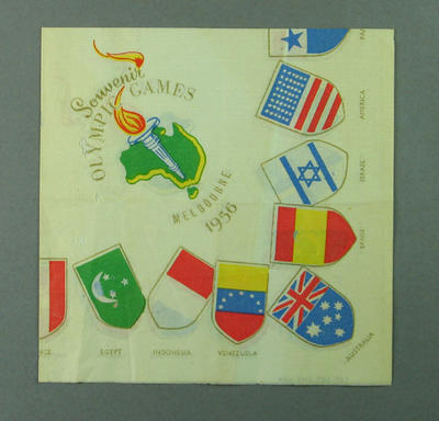 Serviette, 1956 Olympic Games souvenir