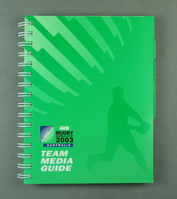Rugby World Cup media guidebook, 2003