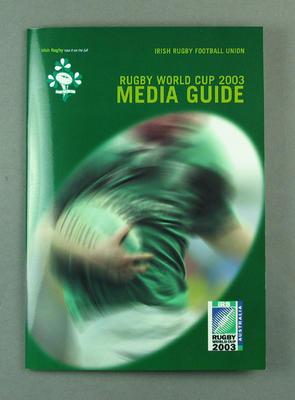 Rugby World Cup media guidebook - Ireland team, 2003