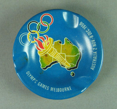 Ashtray, 1956 Olympic Games souvenir
