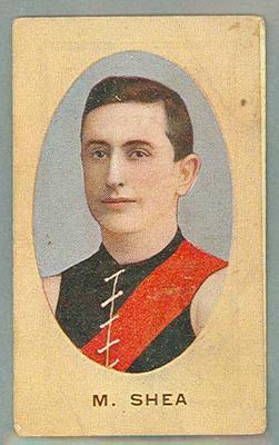 1909-10 Standard Cigarettes Australian Footballers Mark Shea trade card
