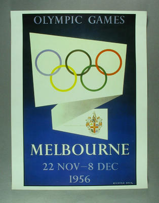 Poster, 1956 Melbourne Olympic Games