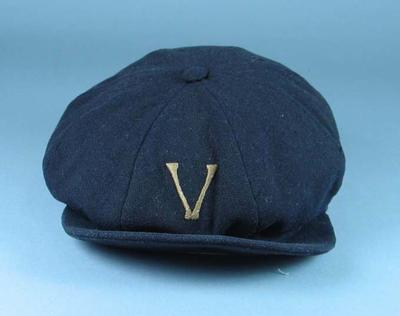 Victorian Baseball League cap, c1919