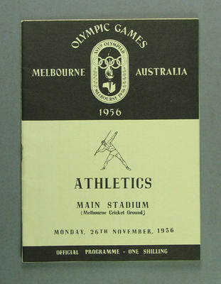 Programme for 1956 Olympic Games athletics events, 26 November