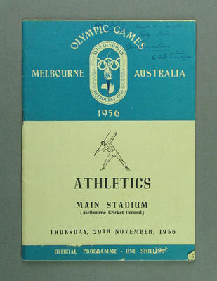 Programme for 1956 Olympic Games athletics events, 29 November
