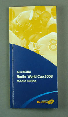 Rugby World Cup media guidebook - Australia team, 2003