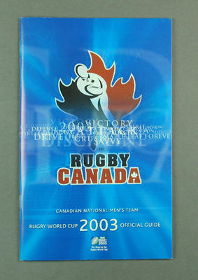 Rugby World Cup media guidebook - Canada team, 2003