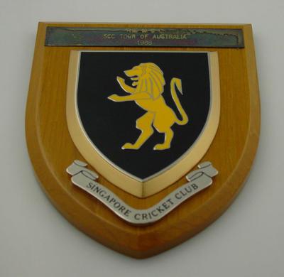 Singapore Cricket Club plaque, Tour of Australia 1988