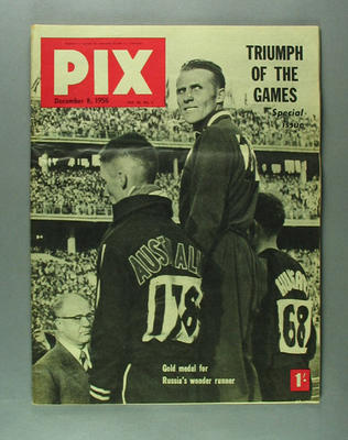 "Magazine, ""PIX"" vol44 no1 8 Dec 1956"