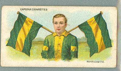 1912-13 Capstan Cigarettes Club Colours & Flags Northcote FC trade card