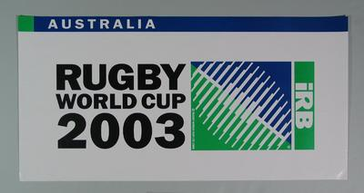 Rugby union poster, Rugby World Cup, 2003