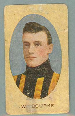 1909-10 Standard Cigarettes Australian Footballers William Bourke trade card