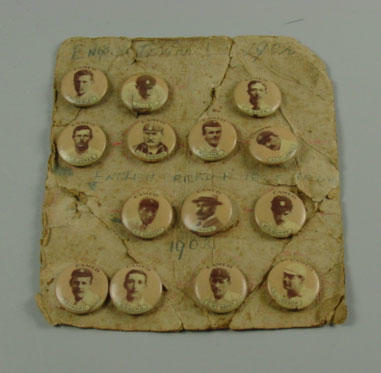 Collection of cameo badges, English Cricket Test Team 1902
