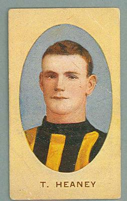 1909-10 Standard Cigarettes Australian Footballers Thomas Heaney trade card