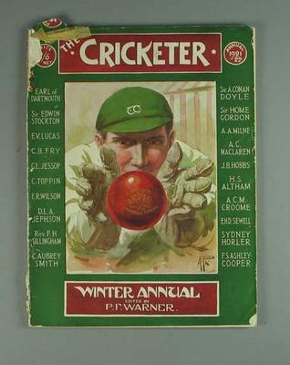 "Magazine, ""The Cricketer Winter Annual 1921-22"""