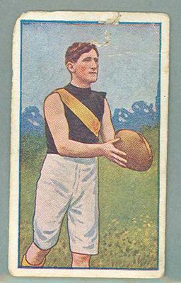 1922 Magpie Cigarettes Victorian League Footballers Barney Herbert trade card
