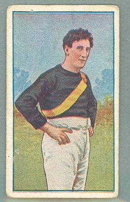 1922 Magpie Cigarettes Victorian League Footballers Dan Minogue trade card
