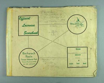 Scorebook of Australian lacrosse championships and grandfinals, 1968-85
