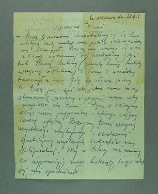 Letter from Ewa Berkowska to Shirley Strickland, 28 Nov 1956