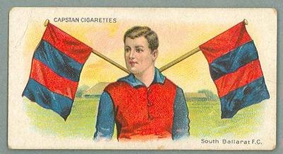1912-13 Capstan Cigarettes Club Colours & Flags South Ballarat FC trade card
