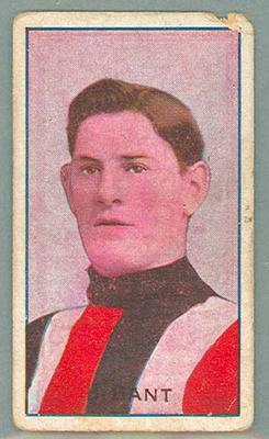 1907-08 Standard Cigarettes Australian Footballers Horrie Bant trade card