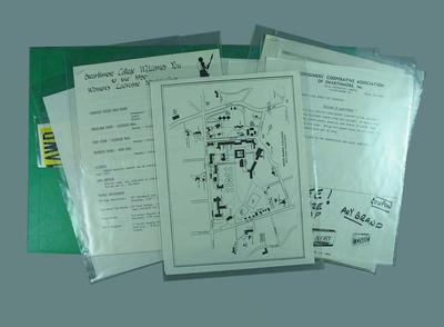 Documents related to 1986 World Cup Lacrosse Tournament