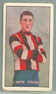 1907 Standard Cigarettes Australian Footballers James Smith trade card