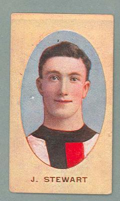 1909-10 Standard Cigarettes Australian Footballers James Stewart trade card