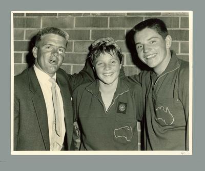 Photograph - Ilsa and John Konrads with coach Don Talbot,  1960; Photography; 1986.1227