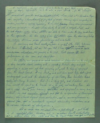 Notes for a speech given by Shirley Strickland, 1956 Olympic Games
