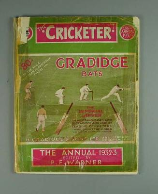 """Magazine, """"The Cricketer Spring Annual 1932-33"""""""