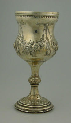 Cup awarded to George Trott, Williamstown CC 1876-77