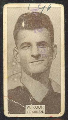 1933 W D & H O Wills Footballers William Koop trade card; Documents and books; M12387.11