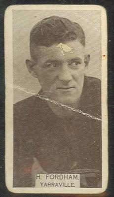 1933 W D & H O Wills Footballers Ted Fordham trade card; Documents and books; M12387.13