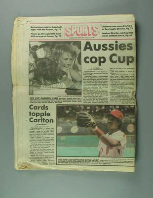 Newspaper, 'The Sunday Times' June 22 1986