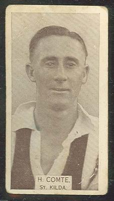 1933 W D & H O Wills Footballers Harold Comte trade card