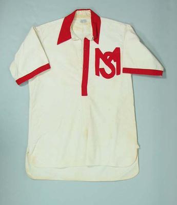 South Melbourne Baseball Club tunic, c1930