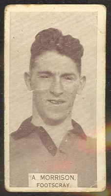 1933 W D & H O Wills Footballers Albert Morrison trade card