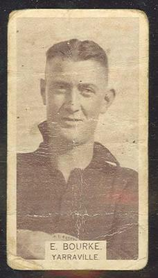 1933 W D & H O Wills Footballers Edward Bourke trade card; Documents and books; M12387.41