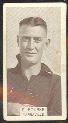 1933 W D & H O Wills Footballers Edward Bourke trade card; Documents and books; M12387.42