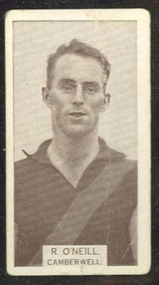 1933 W D & H O Wills Footballers R O'Neill trade card; Documents and books; M12387.56