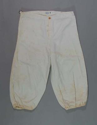 South Melbourne Baseball Club pants, c1930