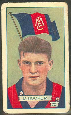 1934 Allen's League Footballers Don Hooper trade card