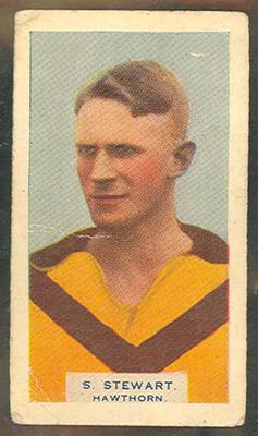 1933 Godfrey Phillips (Grey's Cigarettes) Victorian Footballers Stuart Stewart trade card