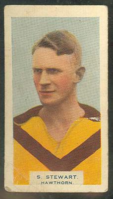 1933 Godfrey Phillips (BDV Cigarettes) Victorian Footballers Stuart Stewart trade card
