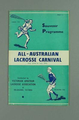 Souvenir Programme,  All-Australian Lacrosse Carnival 1950