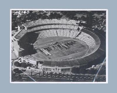Aerial photograph of Opening Ceremony at MCG, 1956 Olympic Games